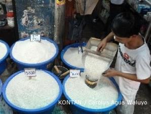 Harga beras belum stabil