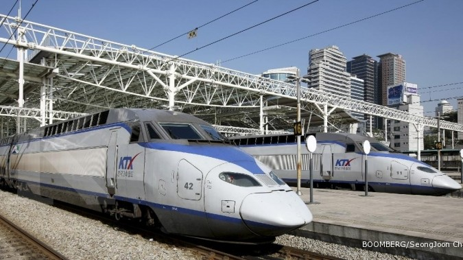Saat kereta Jepang berangkat 20 detik lebih cepat
