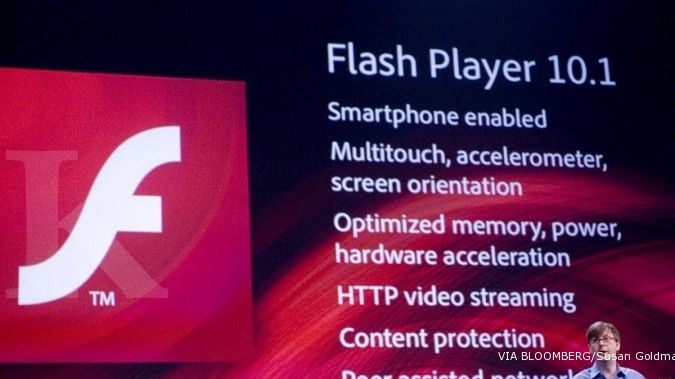 ILUSTRASI: Adobe Flash Player