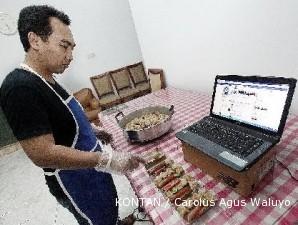 Jualan makanan di dunia maya, penghasilan tetap nyata