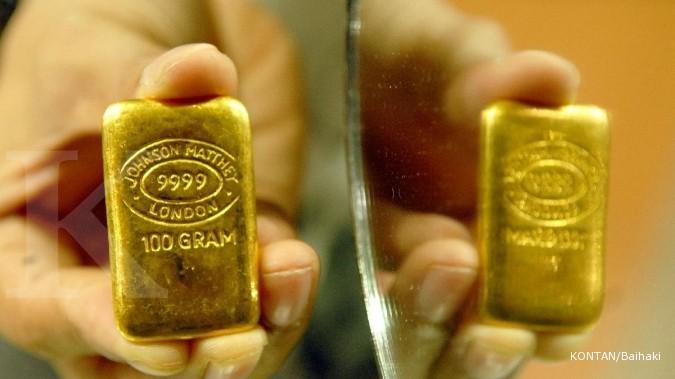 Goldman: Harga emas akhir 2014 US$ 1.050 per ounce