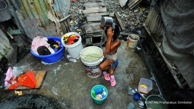 Penduduk miskin 2013 mencapai 96 juta jiwa