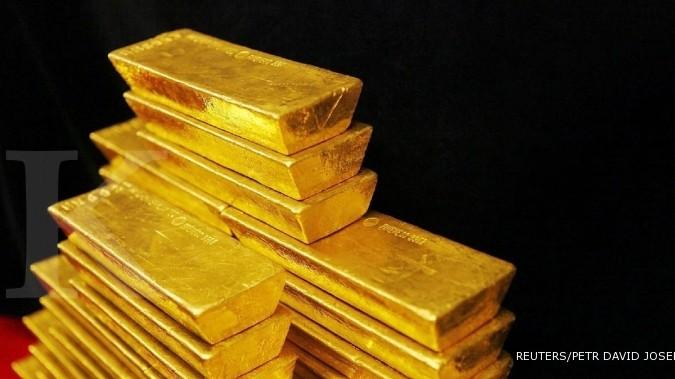 Inflasi membuat harga emas mengkilau