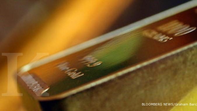 Harga emas berakhir di level terendah 7 bulan