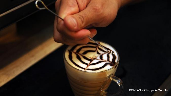 Latte art: Kopi tersaji cantik, labanya pun ciamik