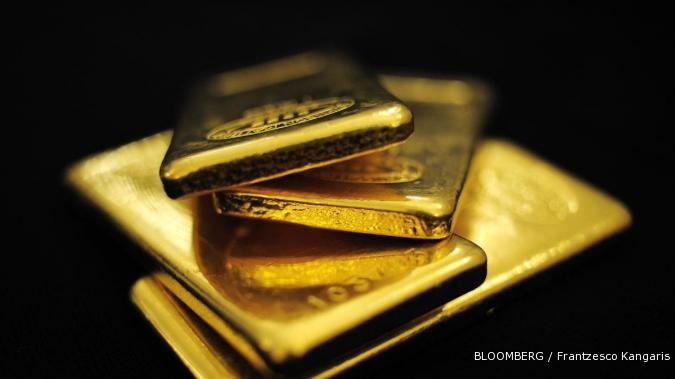 Emas rebound dari level terendah lima bulan