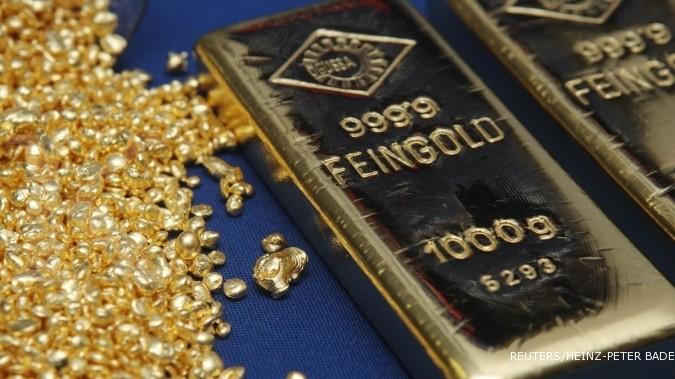 Pasca turun dalam, emas di Asia bergerak liar