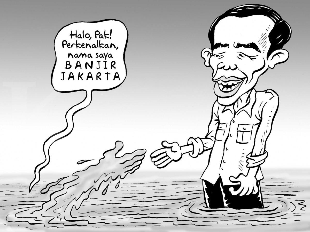 Jokowi Hadapi Banjir