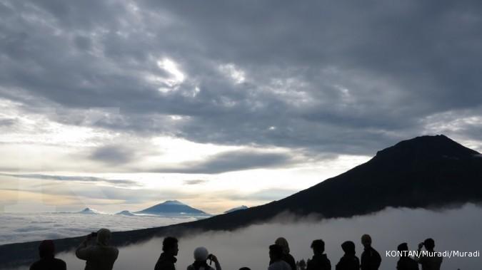 Gempa tektonik di Gunung Papandayan