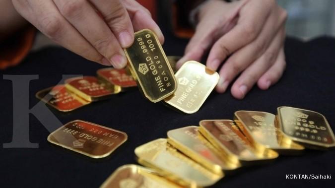 Harga emas Antam berbalik naik
