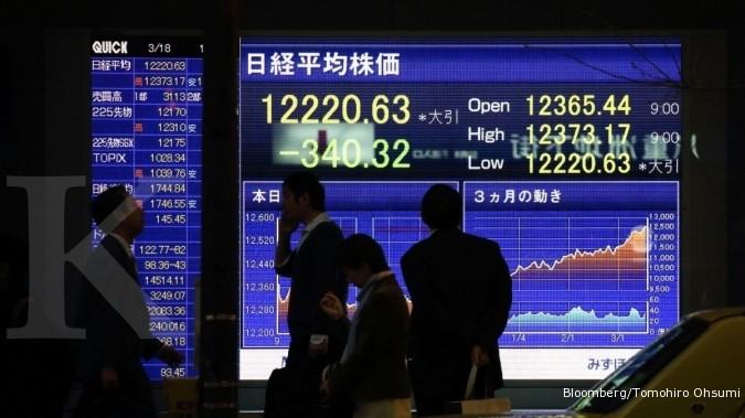 Raksasa Asia melemah, bursa Asia rontok