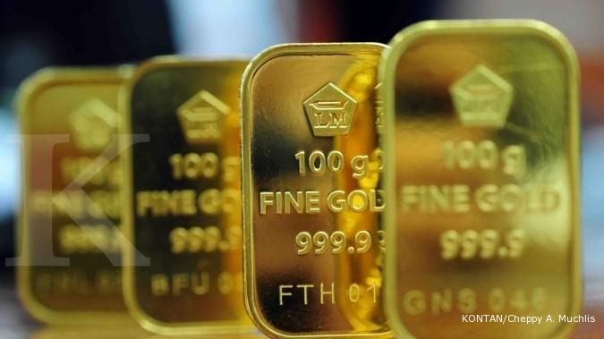 Harga Emas Antam Pekan Ini Bergerak Turun