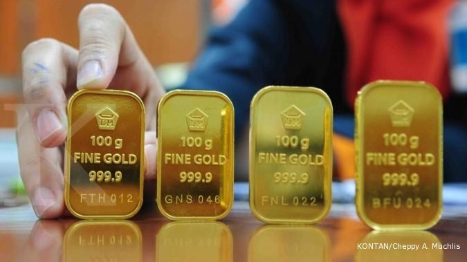 Harga Emas Antam Hari Ini Turun Rp 13 000 Per Gram