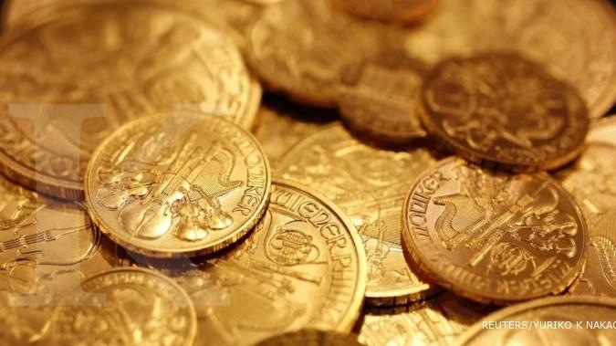 Emas sentuh level tertinggi di bulan Agustus