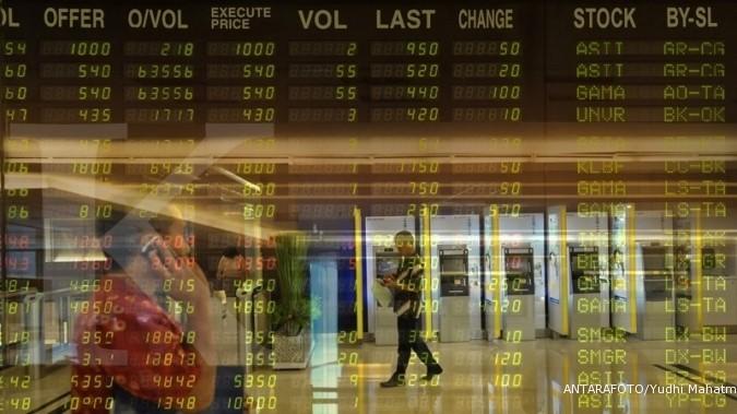 Empat dari 10 posisi top gainers LQ45 hari ini direbut saham pertambangan