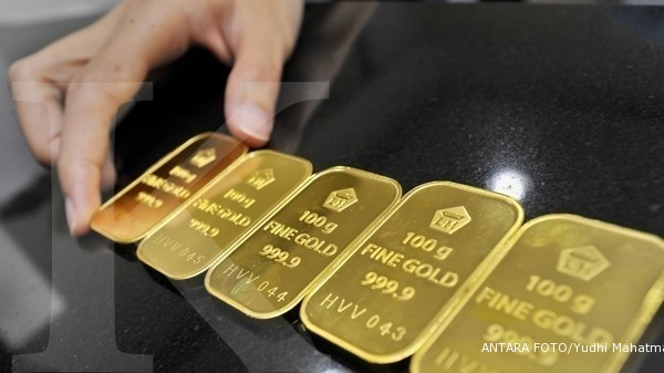 Awal tahun, harga emas naik