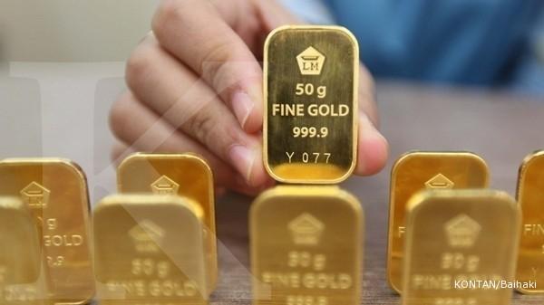 Harga emas Antam hari ini naik Rp 5.000 per gram