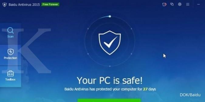 Baidu Antivirus raih peringkat advanced