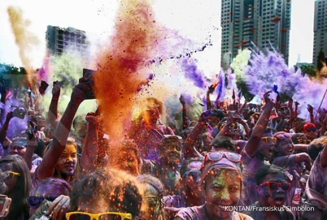 Siap-siap berlari di Color Run 2017