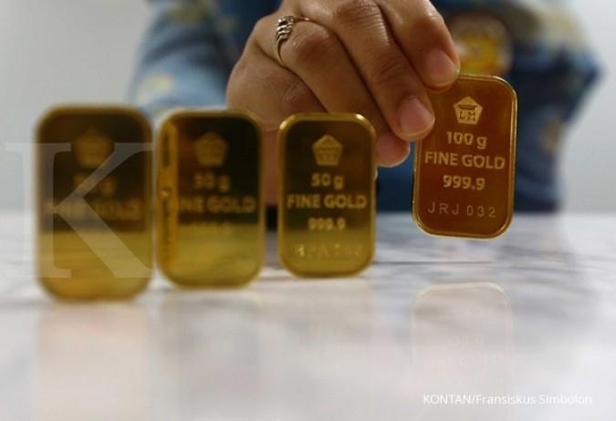 Harga Emas Antam Hari Ini Turun Rp 1000 Per Gram