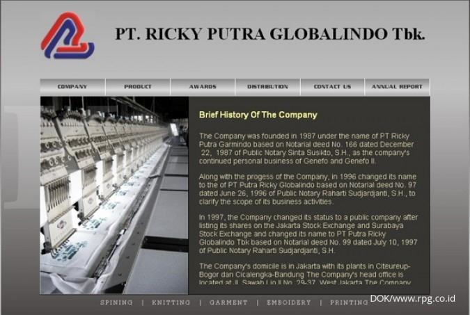 Pertumbuhan bisnis Ricky Putra antara 5%-10%