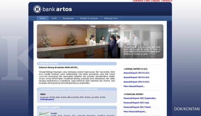 ARTO Bank Artos akan rights issue Rp 50 miliar