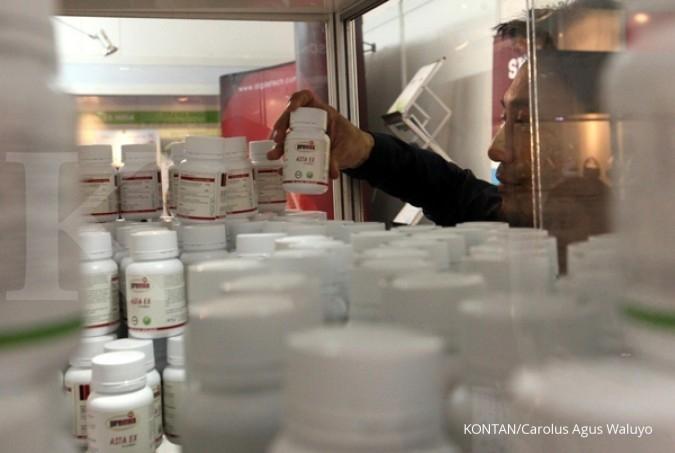 KLBF KAEF Rupiah stabil, emiten farmasi lebih sehat