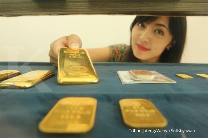 Harga emas Antam 1 gram hari ini diam di tempat