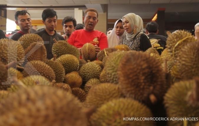 Durian serba Rp 11.000 di Festival Durian Depok