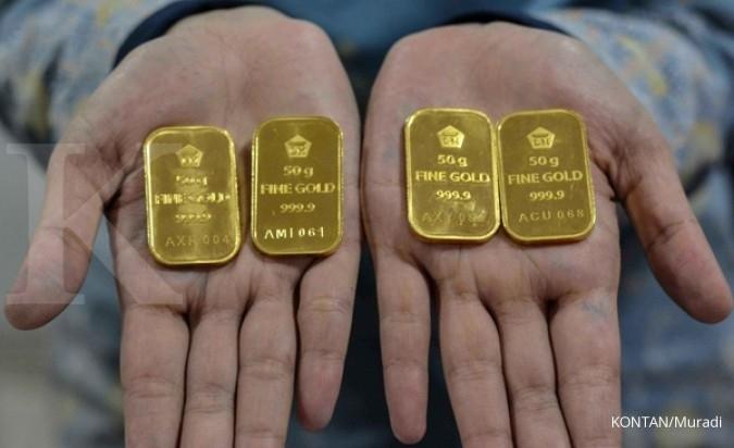 Harga Emas Antam Hari Ini Turun Rp 4 000 Per Gram