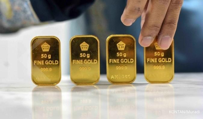 Harga Acuan Emas Antam Turun Rp 1000 Per Gram