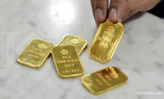 Harga 1 gram emas Antam Jumat lebih murah Rp 1.000