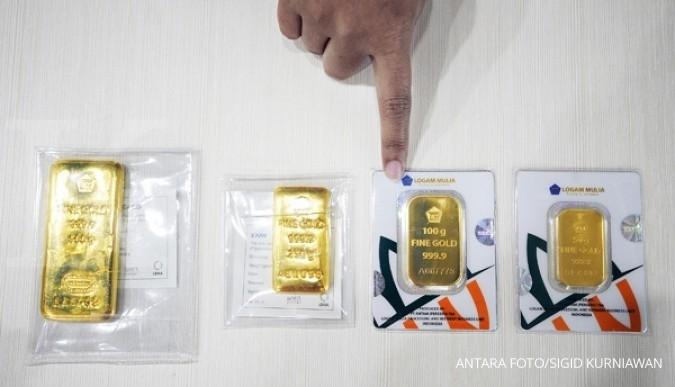 Harga Emas Antam Hari Ini Turun Rp 5 000 Per Gram