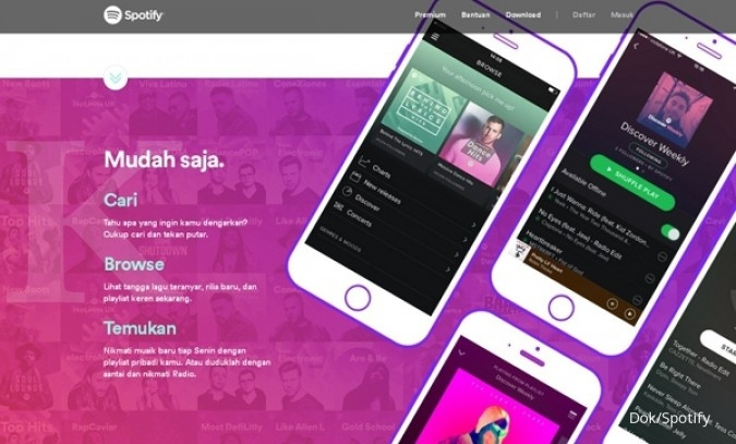 Spotify bakal masuk bursa di valuasi US$ 13 Miliar