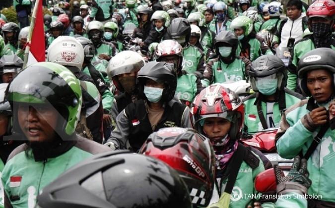 Pengemudi Go-Jek Makassar protes kebijakan tarif