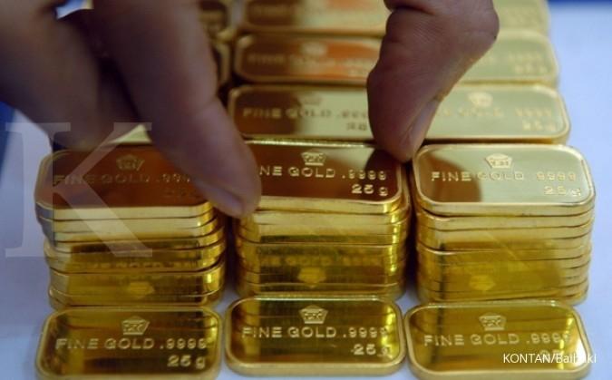 Harga jual emas Antam stagnan di Rp 616.000