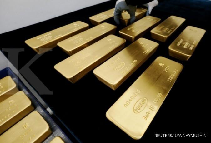 Kenaikan emas kian menipis