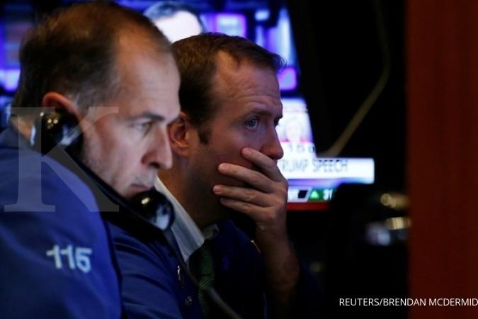 Wall Street berakhir dengan tenaga terkuras
