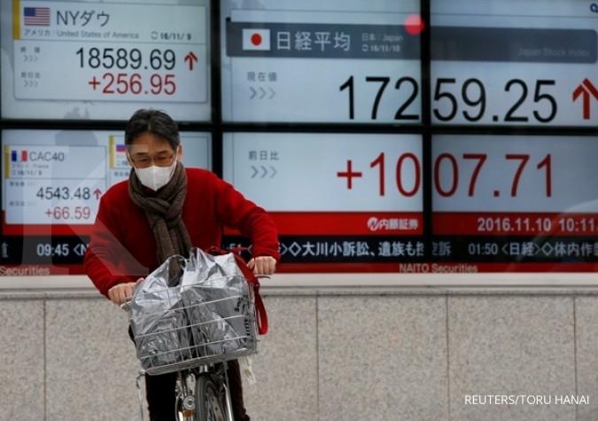 Menyusul Wall Street, bursa Asia berlari
