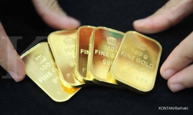 Harga jual emas Antam bertahan di Rp 613.000