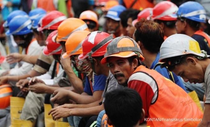 Pembangunan infrastruktur belum sejahterakan buruh