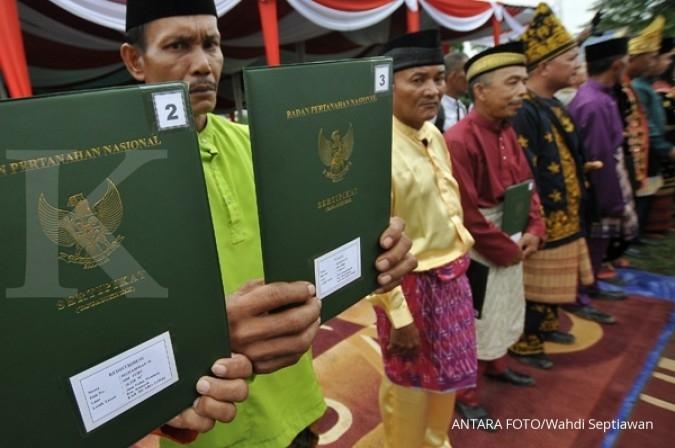 Bagi-bagi sertifikat tanah bisa undang spekulan