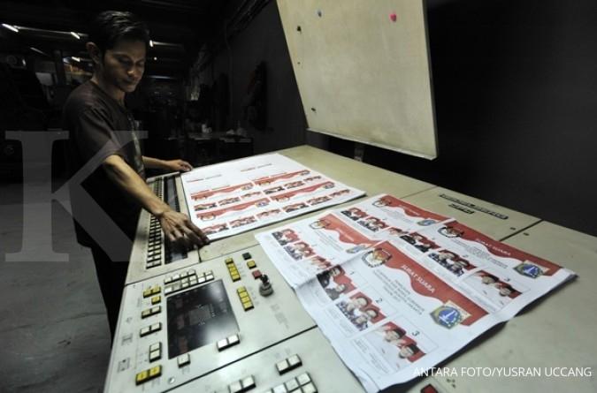 Gramedia Printing cetak surat suara Pilkada DKI II