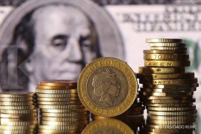 Poundsterling menuah berkah kejatuhan dollar AS