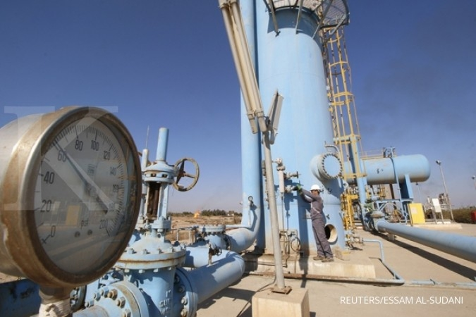 Gas alam terseret katalis negatif