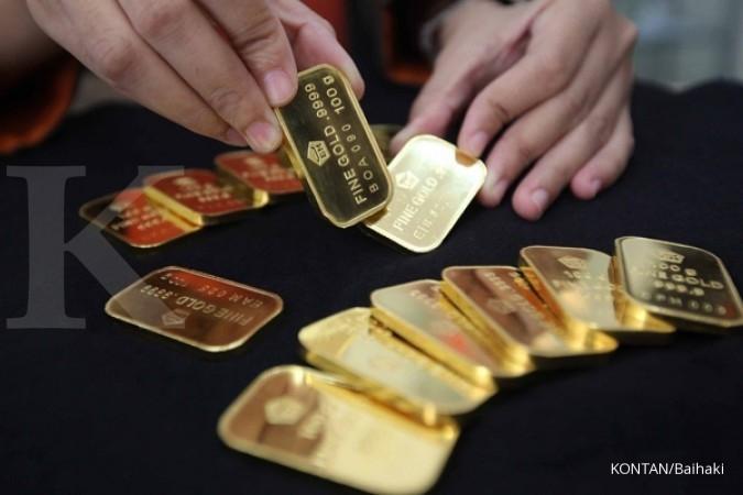 Harga jual emas Antam tergerus Rp 1.029