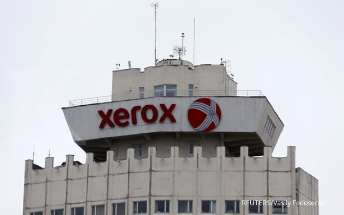 Logo Xerox di sebuah bangunan di Belarusia, (21/3/2016). REUTERS/Vasily Fedosenko/File Photo GLOBAL BUSINESS WEEK AHEAD PACKAGE - SEARCH BUSINESS WEEK AHEAD 30 JANUARY FOR ALL IMAGES