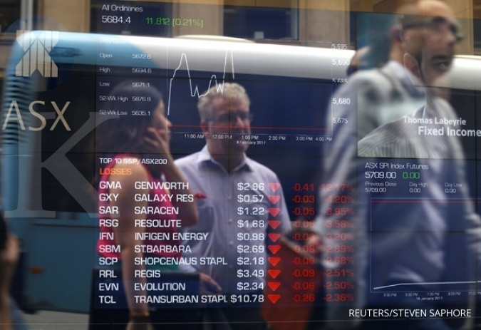 Bursa Asia bergerak mendatar