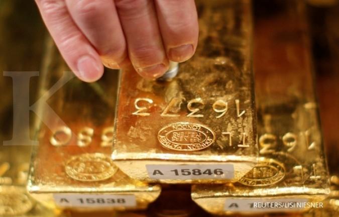Harga emas diredupkan penguatan dollar AS