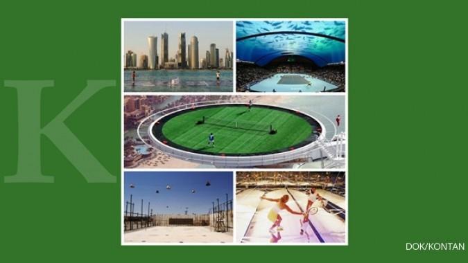 5 Lapangan tenis terunik di dunia